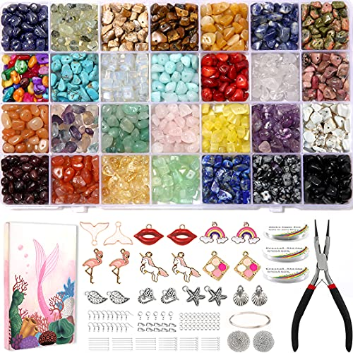 1600 pcs 28 Color Crystal Ring Making kit, Crystal Jewelry Making Kit, Crystal...