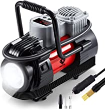 NoOne Digital Tire Inflator,12V DC Portable Air Compressor Pump with Led Light for..