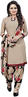 Rensila Fab Womens French Crepe Unstitched Dress Material (RDS_ADMIRING CHIKU_DM_Cream_Free Size)