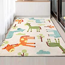 Baby Play Mat Padded Crawling Carpet Anti-Slip Kids Area Rugs Game Pad Blanket for Infant Child, Extra Large 47 in X 71In,B