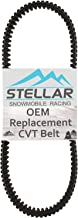 Stellar Snowmobile Racing CVT Drive Belt Compatible with Ski-Doo 600/800/900/1200 Ace Fits - 417300383, 417300166 2009-2017