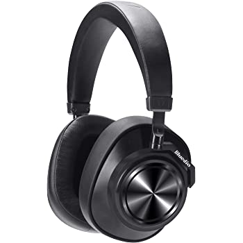 Bluetooth Headphones Over Ear, Bluedio T7 Turbine Custom Active Noise Canceling Headphone 57mm Driver Hi-Fi Stereo & 30Hrs Playtime, Wireless Headsets with Mic for PC/Cellphone/Travel/Work, Black