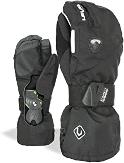 Level Fly Trigger Snowboard Gloves with BioMex Wrist Guards, Membra-Therm Dry Technology, Durable Kevlar Palms