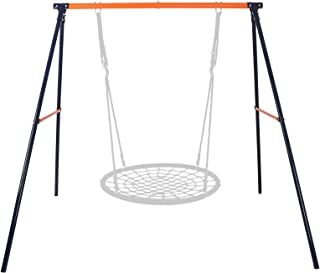 "SUPER DEAL Extra Large Heavy Duty All-Steel All Weather A-Frame Swing Frame Set Metal Swing Stand, 72"" Height 87"" Length, Fits for Most Swings, Fun for Kids (Swing Frame)"