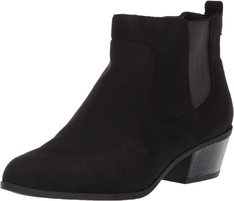 Dr. Scholl's shoes Women's Belief Ankle Boot, Black Microfiber, 9 M US