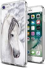 iPhone 8 Case Horse,iPhone 7 Case Horse,Gifun Anti-Slide Clear Soft TPU Premium Flexible Protective Case for Apple iPhone 8/iPhone 7 - Beautiful White Horse