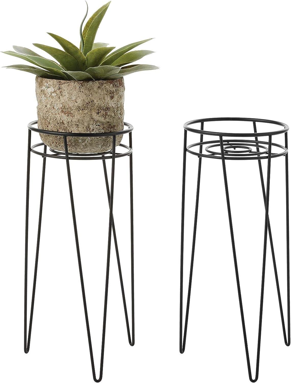 mDesign Midcentury Modern Flower, Plant and Succulent Stand Minimalist Planter - Metal Wire, Indoor, Outdoor Design Hairpin Legs - Sturdy - 16.72