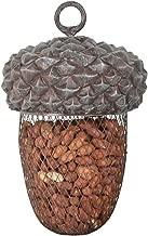 Esschert Design Futterstelle Eichel aus Polyresin und Metall, 14,0 x 14,0 x 22,2 cm