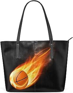FANTAZIO Handtasche Schultertasche Basketball On Fire Schultertasche