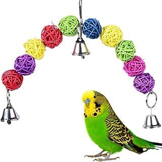 Colorful Hollow Rattan Balls Bird Toy Bird Chew Toys  Bite Toy for Parrot Budgie Parakeet Cockatiel Conure Lovebird Finch ...