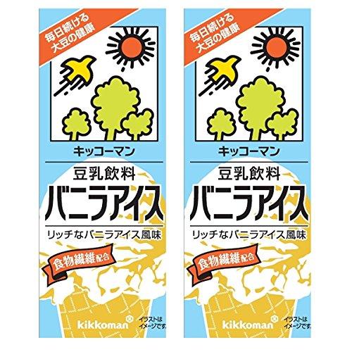 キッコーマン 豆乳飲料 バニラアイス200ml紙パック×18本入×(2ケース)