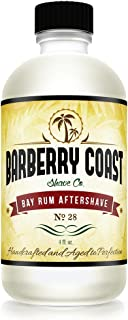 Bay Rum Aftershave Splash for Men - Crafted with Authentic Bay Oils from Dominica Republic in The Virgin Islands - Natural and Pure Ingredients - 4oz. - from Barberry Coast Shave Co.