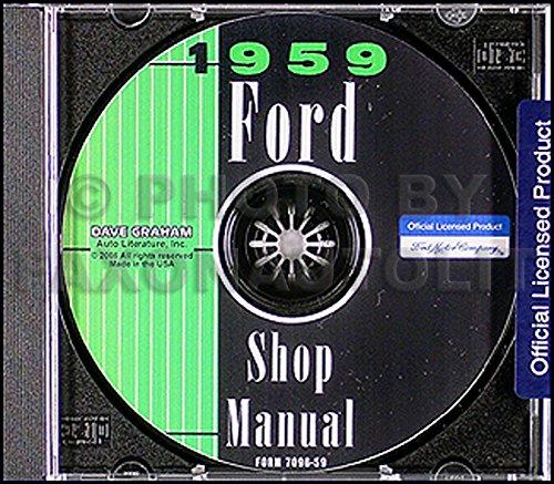 1959 Ford CD Repair Shop Manual for all cars, retractable, & Ranchero
