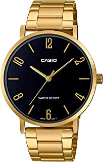 CASIO Stainless Steel Band Analog Watch for Men - Gold