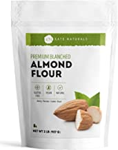 Almond Flour by Kate Naturals. Blanched, Gluten Free & Non-GMO. Keto, Vegan & Paleo Friendly. Perfect for Baking, Pizzas & Pancakes. 100% from California Almonds. 1-Year Guarantee (2 LBS (32 Ounces))