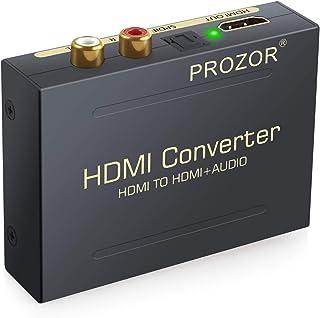 Proster HDMI 音声分離器 1080P対応 SPDIF RCA 音声出力 オーディオ 分離器