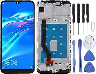 مجموعة الهاتف الخلوي Lingland شاشة LCD ومحول رقمي كامل مع إطار لهاتف Huawei Y7 Pro (2019) (أسود) التجميع الكلي للشاشة (الل...