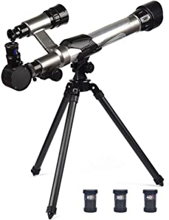 Telescope for Beginners Childs,Early Science Telescopes with Tripod Portable Educational Learning Toy Telescope for Kids B...