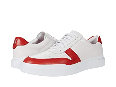 Cole Haan Grandpro Rally Court Sneaker (White/Red) Men
