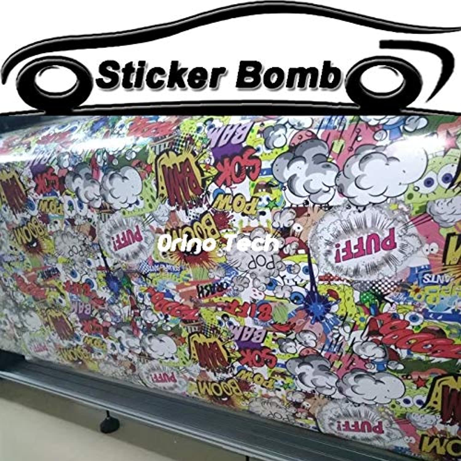 Newest Boom Sticker Bomb Vinyl Wrap Car Styling Stickerbomb Motorcycle Bike Truck Car Film Wrapping Covers(Size  5 Meters)