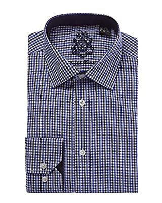 English Laundry Navy and Black and White Dress Shirt