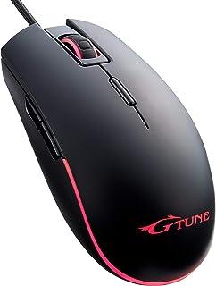 マウスコンピューター G-Tune オプティカルゲーミングマウス 6段階DPI高速切替 プログラム可能8ボタン 両手対応マウス 有線GTCL0880BK1