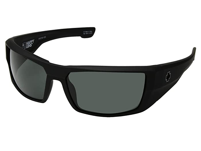 Spy Optic Dirk (Soft Matte Black/HD Plus Gray Green) Sport Sunglasses