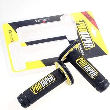 "SclMotor Universal 22mm 7/8"" Pro Taper Dirt Pit Bike Grips For YAMAHA SUZUKI BMW HONDA (yellow)"