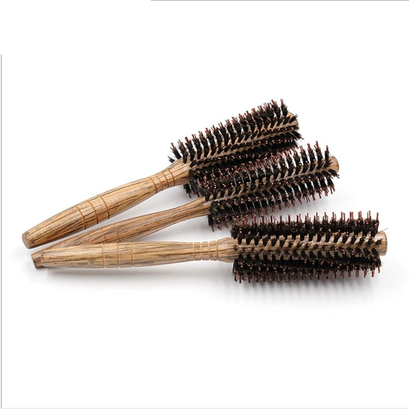 キャッシュからかうガジュマル女性のためのヘアブラシ大きい花のComb24cmの長さ - ヘアブラシの女性のカーリー&木製ハンドル付きストレートヘアの櫛 - スタイル、カール、そして乾いた髪にブロー乾燥しながら使用 モデリングツール (サイズ : S)