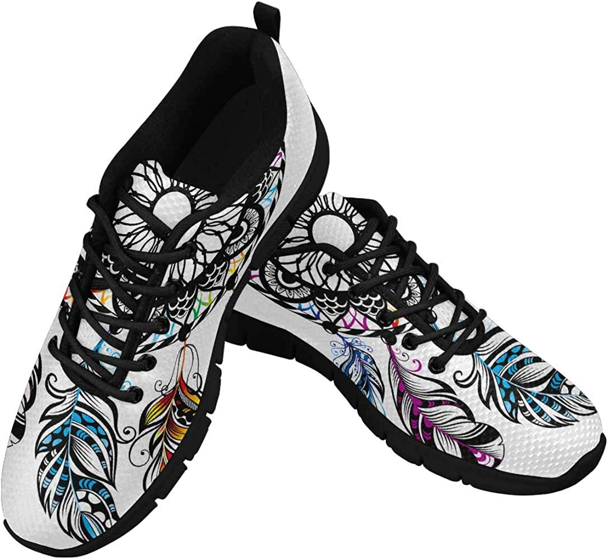 INTERESTPRINT Pattern with Dream Catcher B Mesh Athletic Sale SALE% OFF Women's Safety and trust