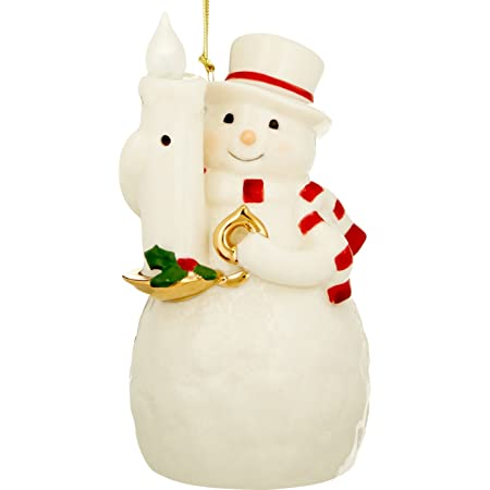 Lenox Blow Out The Lights Sensor Snowman Hanging Ornament Kitchen Dining