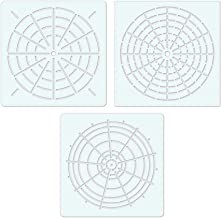 100yellow® DIY Craft Mandala Stencils for Walls Painting Scrapbooking Stamp,Plastic Stencil, 6x6 Inches (White) - Pack of 3