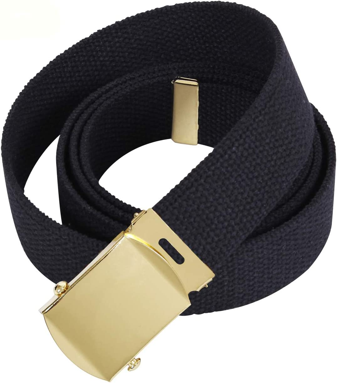 Vanguard Army Belt: Black Elastic with 22K Gold Flash Buckle and TIP