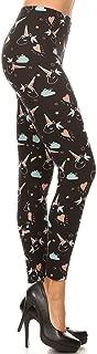 Women's Ultra Soft Christmas Reindeer Santa Snowman Holiday Printed Fashion Leggings BAT22