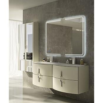 Mobile bagno sospeso moderno Sting grigio natura, misura cm
