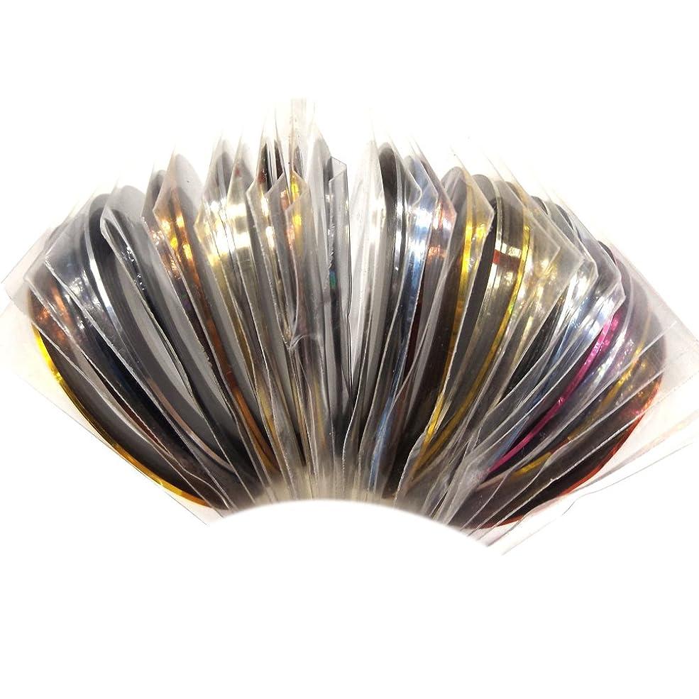 非常に特性ハーブ(ウォームガール)Warm Girl 30巻き ネイルアート用ラインテープ 30色 ネイルデザインテープ ジェルネイル用セット