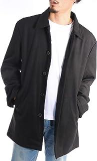 (アラスコ) ALASKO ステンカラーコート メンズ 大きいサイズ メルトン ウール ビッグシルエット 黒 グレー キャメル 秋 冬 ビジネスコート オーバーコート ロングコート 3L 4L 5L