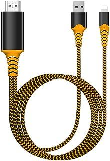 Cable adaptador HDMI 1080P, adaptador AV digital 1080p HD para TV, compatible con i-Phone Xs Max XR 8 7 6Plus, i-Pad, i-Po...
