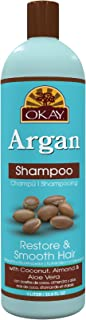 OKAY Restorative Argan Shampoo Helps Restore,Hydrate,and Smooth Hair Sulfate,Silicone,Paraben Free For All Hair Types and ...