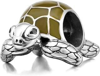 Sea Turtle Charms Original 925 Sterling Silver Animal Charm for European Snake Bracelet