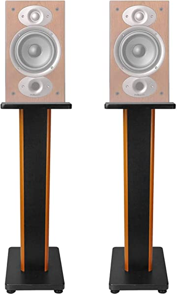ROCKVILLE Pair 28 2 Tone Speaker Stands For Polk Audio RTI A1 Bookshelf Speakers
