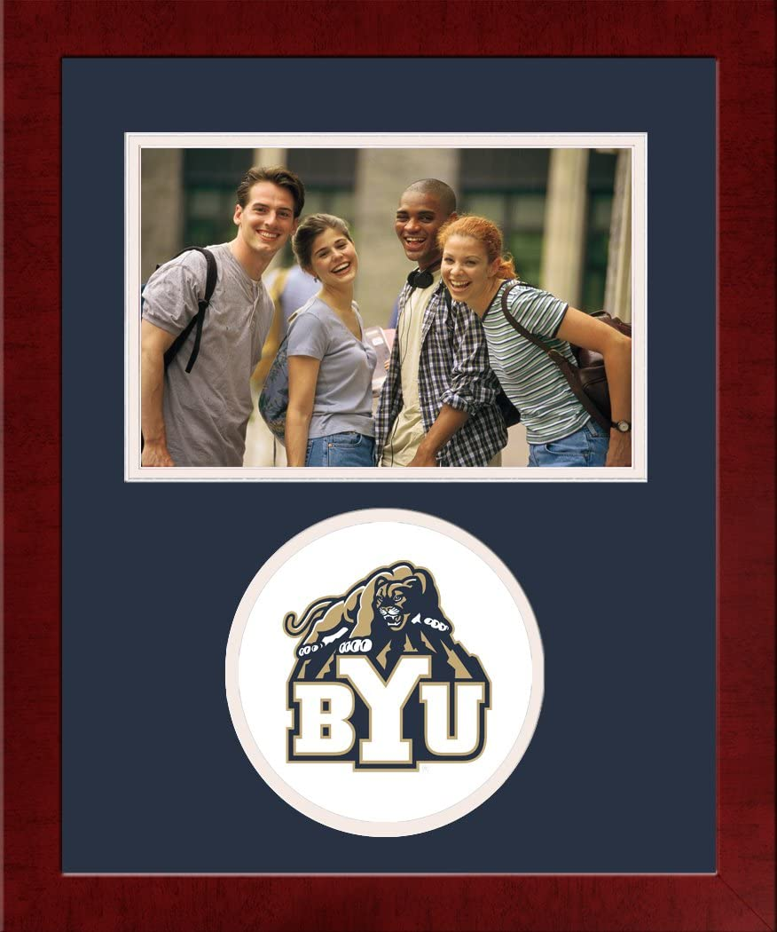Campus Baltimore Mall Images NCAA Super beauty product restock quality top BYU Cougars Spirit University Hor Frame Photo