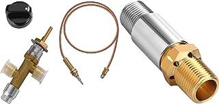 WADEO Bundle - 2 Items Low Pressure LPG Propane Gas Fireplace Fire Pit Flame Failure Safety Control Valve Kit-1/2 LP Propane Air Mixer, Liquid Propane Fire Pits Air Mixer Valve