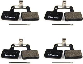 4 Pares SOMMET Pastillas Freno Disco Semi-metálico para Shimano M355 M375 M395 M415 M416 M445 M446 M447 M465 M475 M485 M486 M510 M515 M525 M575 Tektro Orion Auriga Pro Auriga Comp