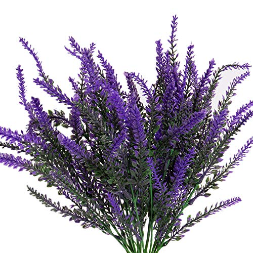 Houseables Fake Lavender Plant, Purple, 4 Bundles, Plastic, Faux, Unfrosted, 14' - 14.5', Decor, Modern, Mantel Decorations, for Indoor, Outdoor, Home, Bedroom Accessories, Kitchen, Living Room