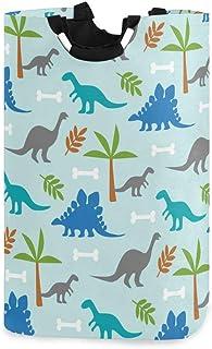 Panier à linge Alge - Motif dinosaure abstrait - Pliable - Durable - Sac de rangement - Panier à linge - Pour jouets, vête...