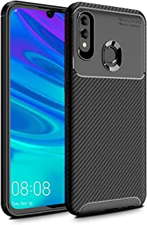PULEN for Huawei P Smart 2019/Huawei Honor 10 Lite Case,Flexible Protective Cover Anti-Slip Scratch Proof Shock-Absorption Ultra Light Shell Soft Gel Silicone Case for Huawei P Smart 2019 (Black)