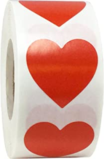 Red Heart Stickers Valentine's Day Crafting Scrapbooking 1 Inch 500 Adhesive Stickers