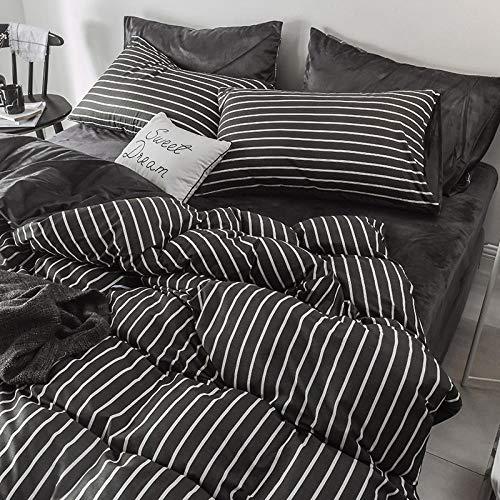 juegos de sábanas 160x200 verano-Otoño e invierno más terciopelo de la leche de terciopelo ropa de cama funda nórdica cama individual niño individual funda de almohada ropa de cama regalo-L_Colcha de