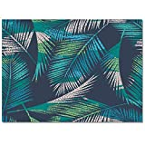 Chic D Tropical Leaf Collection Area Rug 2x3ft, Palm Tree Area Runner Rugs (Non-Slip) Carpets Living Room Bedroom Indoor Outdoor Nursery Rugs Décor